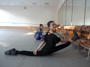 Ballet class warm-up