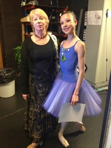 With my teacher at the Vaganova Master Classes