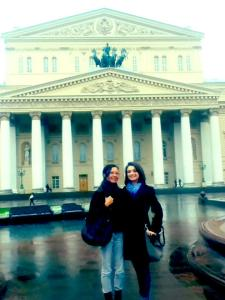 With Remy outside the Bolshoi Theatre - and on our way to Jaggernath!