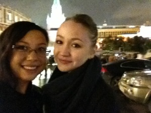 Gala night - with Andrea outside the Bolshoi Theatre