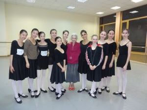 My character class and teacher, Nina Tolstaya