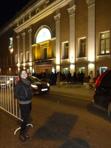 Outside the Stanislavsky theatre