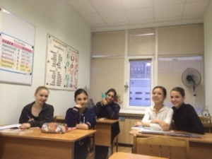 With my friends in Russian class!