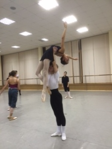 With my partner in duet class - Tala Lee-Turton