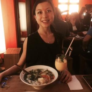 At Monsieur Vuong, Vietnamese restaurant.