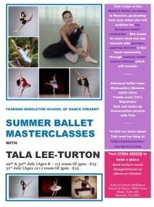 Tala Lee-Turton Summer Ballet Masterclasses