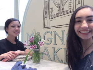 With Sofia in Magnolia Bakery
