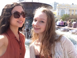 With Nastia outside the theatre!