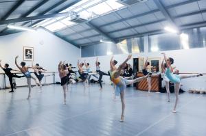 Tala Lee-Turton - Bolshoi Ballet Academy - in class at VKIBC 2015