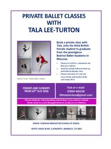 Tala Lee-Turton Bolshoi Ballet Academy - Masterclasses 2016