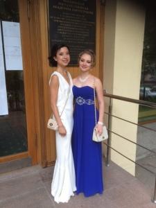 With my friend, Nastia.